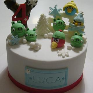 Winter cake - Angry birds