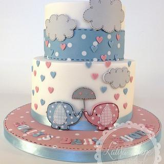 Neutral Baby Shower - Cake by Laura Davis