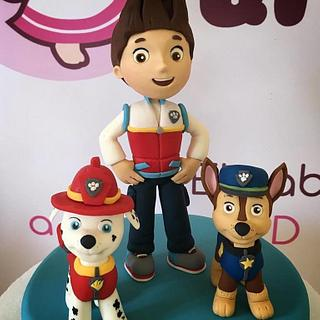 "Ryder - Marshall - Chase ""Paw Patrol"" - Cake by i dolcetti di Kerù"