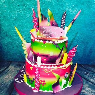 Neon madness - cake