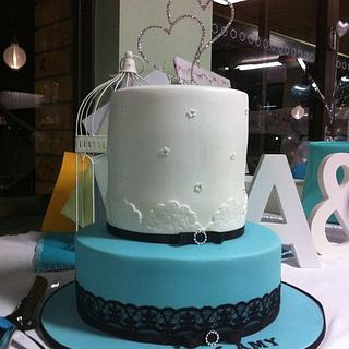 Tiffany inspired Engagement cake