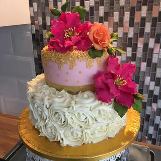 Peonies and frosting