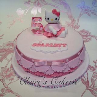Pretty kitty cake