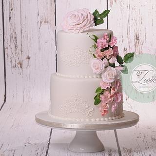 Romantic wedding cake  - Cake by  Marieke