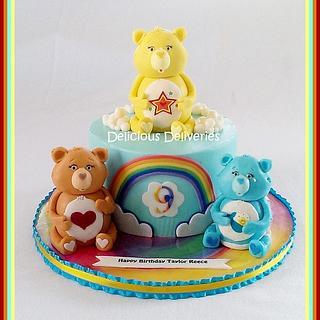 Care Bears Rainbow Cake