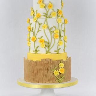 Spring Primroses Cake
