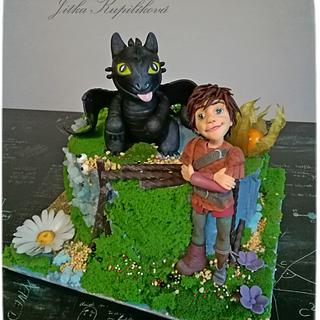 How to Train Your Dragon - Cake by Jitka
