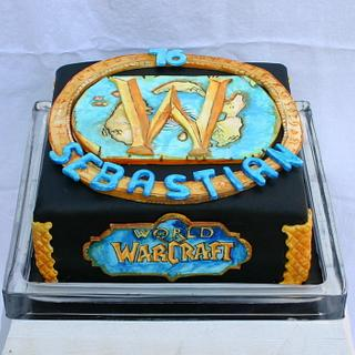 handpainted World of Warcraft-cake