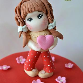 Valentine Magnolia Doll