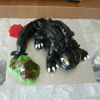 Toothless Dragon  - Cake by Cake Art