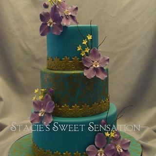 Blue and Gold - Cake by Naturepixie
