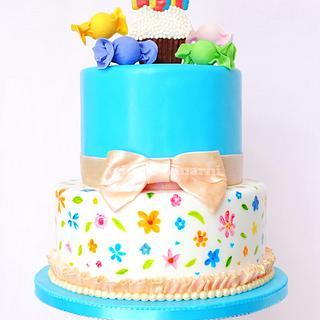 Pretty Candy Cake