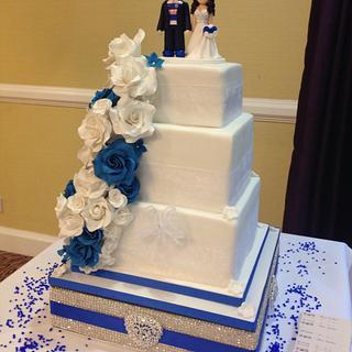 Chelsea Themed Wedding Cake
