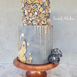 Rustic Masculine Cake (cake this again collab) - Cake by Sweet Aloha