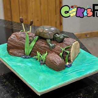 Lake turtle grooms cake