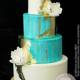 Mint&Gold cake