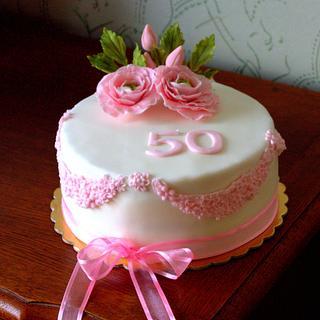 ranunculus cake - Cake by Jiřina Matějková