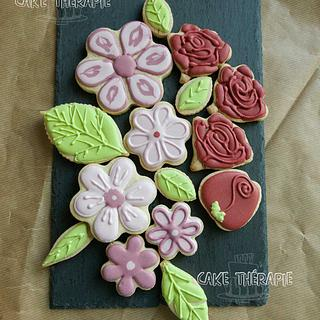 Sugar flower cookie