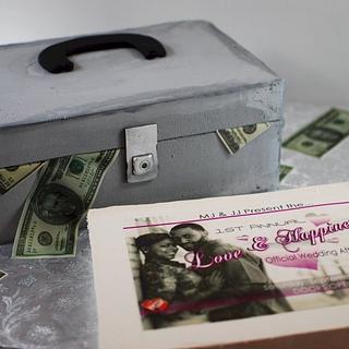 Concert Promoter Cash Box Groom's Cake - Cake by Jenniffer White