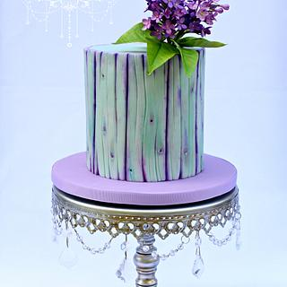 Purple dream ~ Lilac and Woodgrain Cake