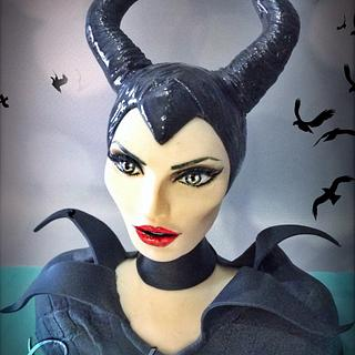 Maleficent cake topper