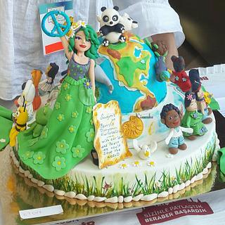 WORLD & PEACE CAKE