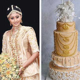 Beautiful Srilanka-Cake collaboration