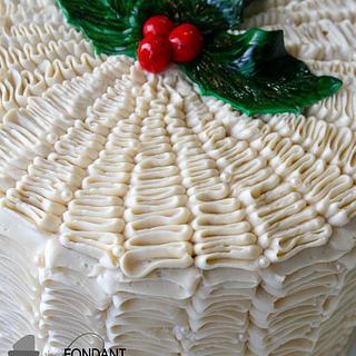 Holiday Ruffle Cake