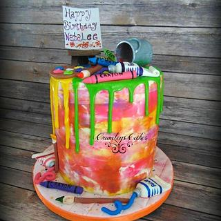 Art drip cake
