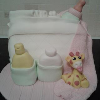 baby shower - Cake by Little Cakes Of Art