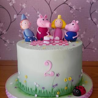 Peppa pig with Ben and Holly - Cake by Daisychain's Cakes