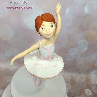Felicie - Ballerina inspired cake - Cake by Alana Lily Chocolates & Cakes