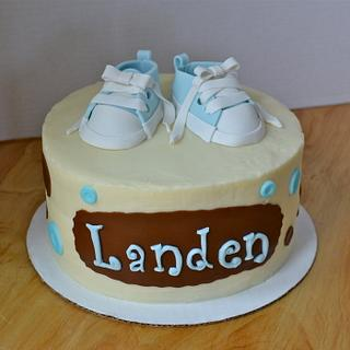 First Baby Shoes Cake