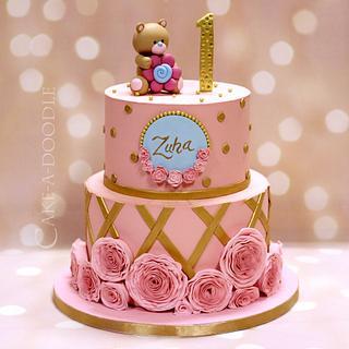 Ruffles in Pink - Cake by Nimitha Moideen