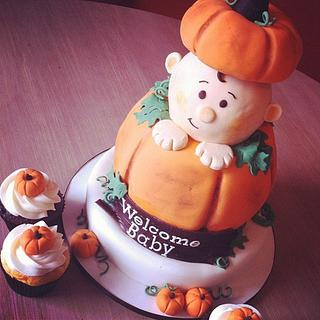 Pumpkin-themed baby shower
