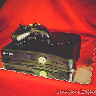 Black X Box Cake with Controller