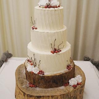 My first buttercream wedding cake!