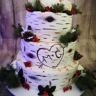 New Year's Wedding Cake