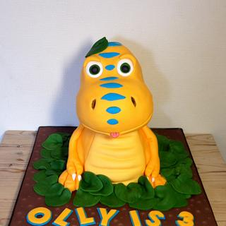 Dinosaur Train's Buddy cake