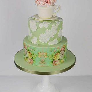 Vintage Afternoon tea Cake