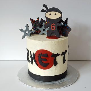 Ninja Star cake