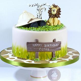 An African Safari Adventure Cake