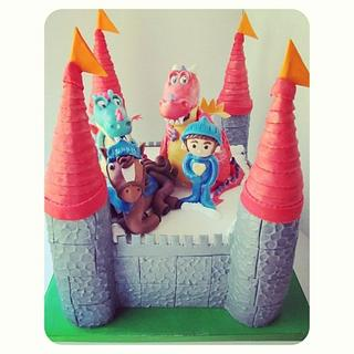Mike the Knight 2nd Birthday Castle Cake