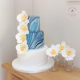 Marble wedding cake  - Cake by Sara's House of Cupcakes