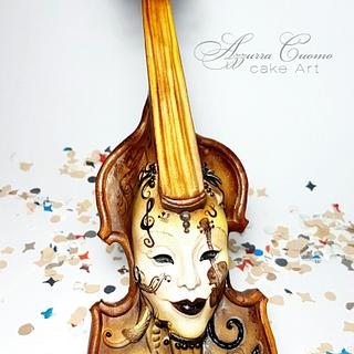 Carnival Cakers Collaboration: the violin mask❤