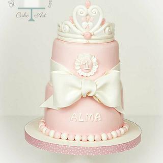 Princess Pink Cake - Cake by Vanessa Rodríguez