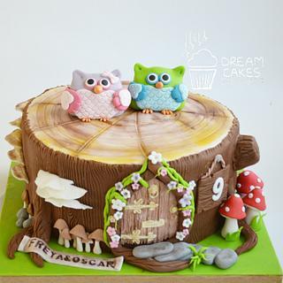 Owls cake!