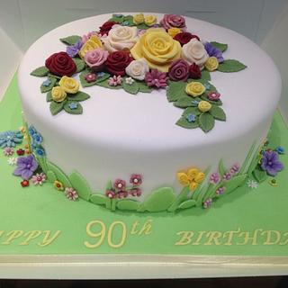 English garden cake - Cake by Enchanting Cupcakes hobby cakes
