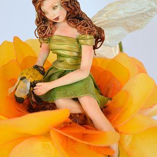Spring Fairy Collaboration Honey Bee Fairy - Cake by Jenny Kennedy Jenny's Haute Cakes
