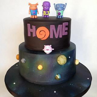 "Dreamworks ""home"" cake!"